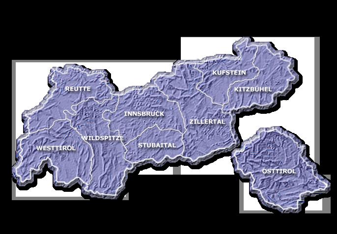 Karte Tirol.Bergführer Bergführer Tirol Karte Tirol